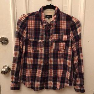 APC plaid flannel shirt